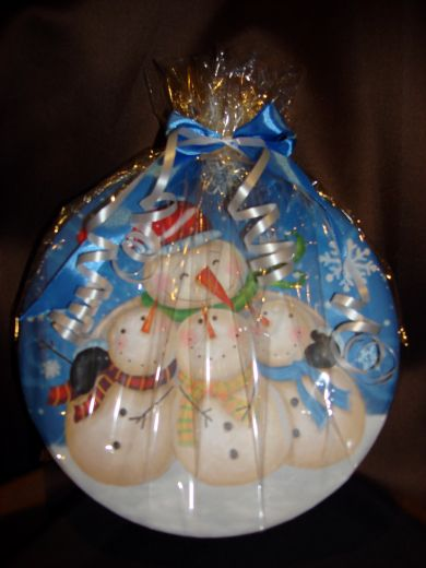 Снеговики (большая коробка) - новогодний подарочный набор с кофе № 34
