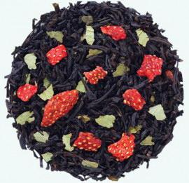 Земляника со сливками  - черный чай с натуральными ароматизаторами.