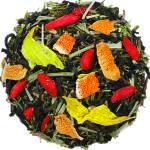 Божественный нектар  - смесь черного и зеленого чая с ягодами годжи и натуральными ароматизаторами.
